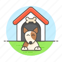 dog, doghouse, house, kennel, outdoor, pet, puppy, shelter, yard icon