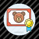 1, adoption, animal, badge, bear, certificate, love, medal, pet, pride icon