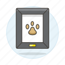 animal, dog, footprint, frame, love, painting, paw, pet, photo, pride icon
