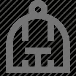 animal, bars, bird, cage, keep icon