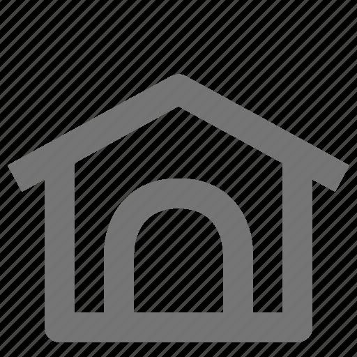 dog house, house icon