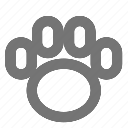 animal, paw, paw print icon