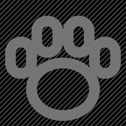 animal, foot, paw, pet, print, trace icon