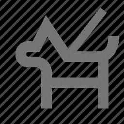 dog, k9, leash icon