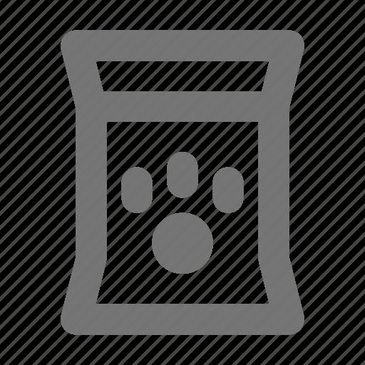 bag, food, paw, pet food icon