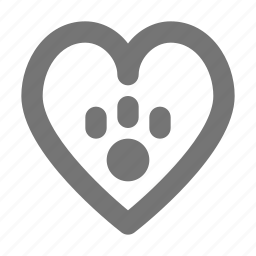 favorite, like, love, paw icon