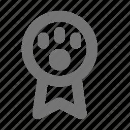 award, badge, medal, paw, prize icon
