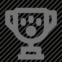 award, paw, trophy icon