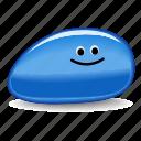 blue, blues, pet rock, rock, two tone icon