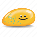 blue spots, pet rock, rock, spotted, yellow icon