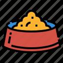 bowl, dog, feeding, food, petshop icon