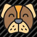 animal, art, dog, face, head, mammal, mascot icon