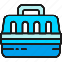 animal, bag, cage, carriage, carrier, carry, case icon