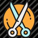 animal, comb, grooming, hair, haircut, scissors, tool icon