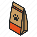 bag, cat, dog, feed, food, paw, pet