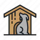 dog, house, kennel, pet, puppy, sleep icon