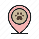 geotag, location, pet, pin, shop, store icon