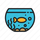 aquarium, feed, fish, interior, pet, seaweed, swim icon