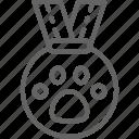 exhibition, animal, badge, reward, award, medal