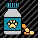 medicine, animal, pet, pills, bottle, meds, veterinary