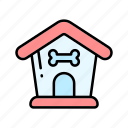 dog, doghouse, pet supplies, pets icon