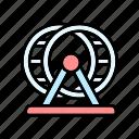 hamster, hamster wheel, pet supplies, pets icon