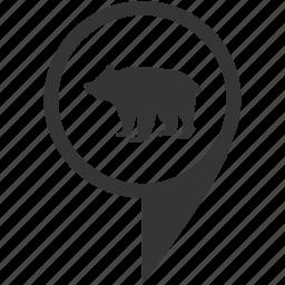 animal, bear, nature, pointer, zoo icon