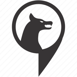 animal, nature, pointer, wolf, zoo icon
