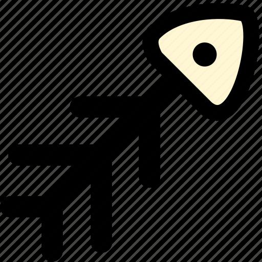 animal, animals, cat, fish, fish bones, pet icon