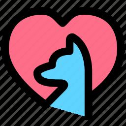 love, pet clinic, pets icon