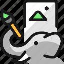 elephant, draw