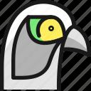 wild, bird, head