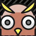 wild, bird, owl