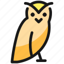wild, bird, owl, body