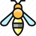 bee, flying, insect