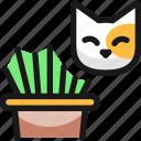 cat, grass
