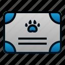 animal, certificate, paper, pet, veterinary