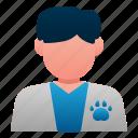 animal, avatar, male, pet, veterinarian, veterinary