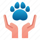 animal, hand, paw, pet, print, save, veterinary