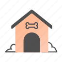 animal, dog, dog house, doghouse, house, kennel, pet icon