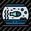 fish, fishbowl, goldfish, pet icon