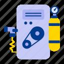 air, compressor, water icon