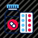 blister, bottle, drugs, pharmacy, pill