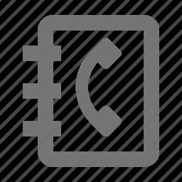 address book, contact, phone, telephone icon