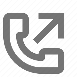 arrow, outgoing call, phone, telephone icon