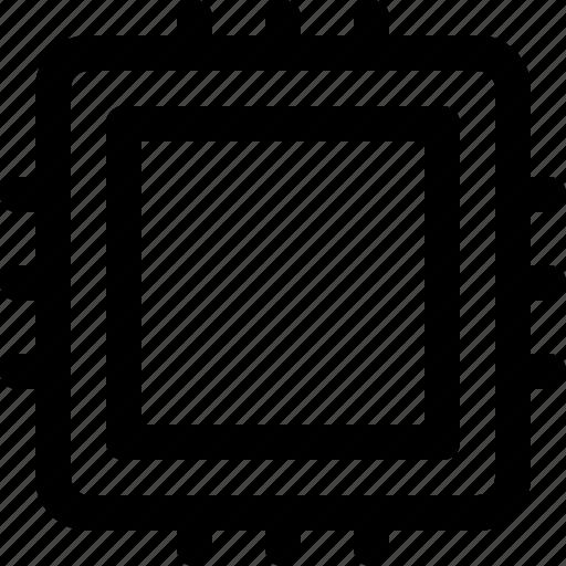 artificial, chip, computer, intelligence, processor icon