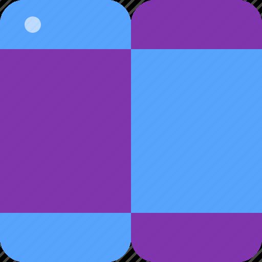 flexible, folding, future, phone, tech icon