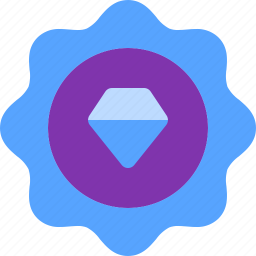 Badge, diamond, premium, quality, star icon - Download on Iconfinder