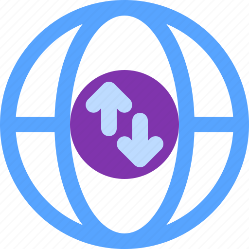 connection, internet, sync, website, world icon