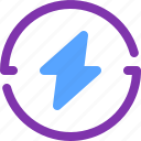 battery, electric, energy, flash, power icon